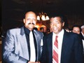 Spider Jones with boxing great Floyd Patterson