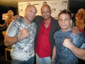 "Spider with mixed martial arts legends Randy Couture and Sean & ""Muscle Shark"" Sherk"